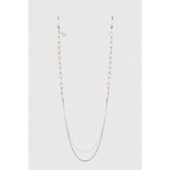 Chaînette CH8 - Pensées comme des bijoux autant que des accessoires de mode, la chaînette maillon fine se portent avec vos lunettes ou en collier grâce à son fermoir mousqueton. Chaque pièce est signée d'un mini-pendentif qui la rend précieuse et unique.