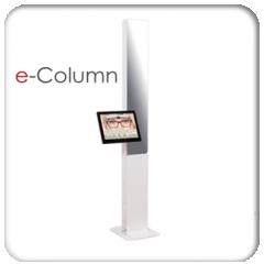 e-Colonne - Les systèmes de prises de mesures sont aujourd'hui indispensables à la vente des verres personnalisés. Le système e-Colonne développé par Acep offre toutes les fonctionnalités nécessaires dans une colonne fiable, simple, rapide, précise, toujours en avance d'une technologie.  1. Simplicité: Système video doté d'un écran tactile, e-Colonne s'utilise sans souris ni clavier. Son utilisation intuitive et immédiate ne nécessite aucune formation. Il suffit à l'utilisateur de se laisser guider.  2. Rapidité: La prise de mesures s'effectue instantanément d'après une image figée sur l'écran. La restitution des mesures demande ensuite moins de vingt secondes. L'opération peut être mémorisée et reprise ultérieurement pour un contrôle a posteriori des mesures effectuées.  3. Précision: Grâce au logiciel de recherche automatique, toutes les mesures nécessaires au centrage des verres sont disponibles à partir d'une seule et même image. La précision des mesures est optimale.