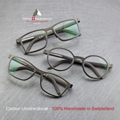 full carbon fiber glasses in unidirectional carbon