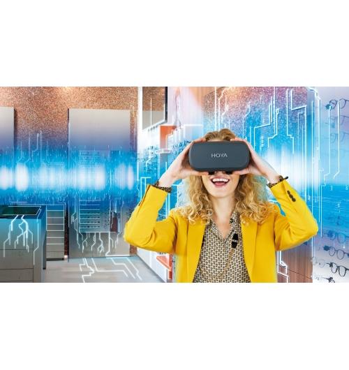 HOYA VISION SIMULATOR - Sur la base de la prescription du client, Hoya Vision Simulator fournit une représentation en 3D très précise des effets optiques des différents designs et traitements de verre.