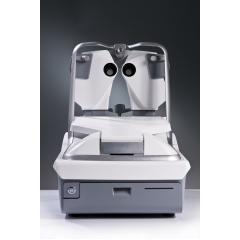 Eye Refract - Eye Refract est doté d'un double aberromètre qui combine une mesure automatique de la réfraction et un réglage itératif simultané du verre grâce à une technologie unique et innovante. Cet instrument révolutionne la pratique de la réfraction en offrant des mesures rapides, précises et fiables. Eye Refract permet aux professionnels de l'examen de la vue d'établir une prescription optique d'une fiabilité irréprochable et d'offrir à vos clients une expérience des plus personnalisées. L'Eye Refract est vendu sous forme de deux packages en solution gain de place avec le VX 25 ou en standard avec l'afficheur de test VX22, le VX40 et l'interface de communication VXBOX II
