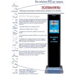 Totem - lunette connectée - <p>IDTotem, la borne intéractive connectée d'ACCESS FRANCE SECURITE & RFID, destinée aux clients des opticiens : - Reconnaissance des lunettes «RFID», essayage virtuel, accès aux «Top» des ventes, aux nouveautés... - Traite le «Paint point», gère les files d'attente. Gain de productivité.</p>