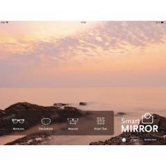 Smart Mirror Mobile - <p><strong>Smart Mirror Mobile</strong> est l'application iPad la plus complète du marché : <strong>Prise de mesures - Simulations des verres - Test de vision - Choix des montures.</strong></p> <ul> <li><strong>Prises de mesures</strong>: Toutes les mesures nécessaires à la réalisation de verres personnalisés sont disponibles aussi bien en vision de loin qu'en vision de près.</li> <li><strong>Simulations des verres</strong> :Grâce aux simulations de réalité augmentée, les porteurs peuvent enfin visualiser les performances de leurs nouveaux verres. Les simulations, de très grande qualité, sont extrêmement réalistes et permettent une mise en situation grandeur nature du porteur.</li> <li><strong>Test de vision</strong> : Vous seratrès utile pour la livraison d'un équipement en verres progressifs pour confirmer à votre client le bien-fondé de son nouvel équipement, tout en lui montrant la modernité de vos outils professionnels.</li> <li><strong>Choix des montures</strong> :les photos du porteur essayant de nouvelles montures apparaissent en plein écran ou sur un écran partagé pour faciliter la comparaison. Le choix des lunettes s'effectue en quelques secondes.</li> </ul>