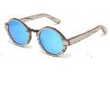 OLY - <p>Monture en bois de Bouleau</p> <p>Verres revo bleu : Carl Zeiss</p> <p>Catégorie 3 : UV400</p> <p>Taille : 46-24-140</p>