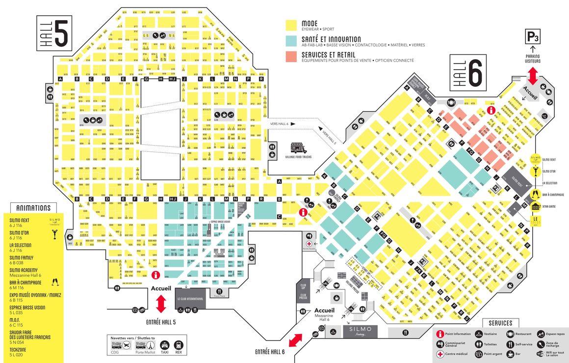 Plan détaillé SILMO Paris 2018
