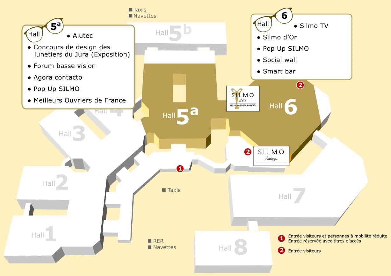Plan général SILMO Paris 2017